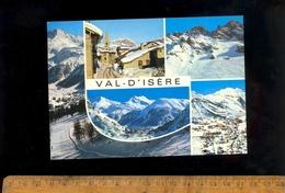 VAL D'ISERE Savoie 73 : Le Vieux Village / Couloir De Bellevarde / Vue Générale /  1987 - Val D'Isere