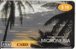 MICRONESIA - Micronesian Sunsets 2, FSM Tel Prepaid Card $10, First Issue $10, Used - Micronesia