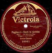 78 T - 30 Cm 300 G. Ange 1 Face - état B - Enrico Caruso - Voir étiquette - 78 Rpm - Gramophone Records