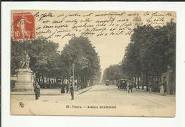 TOURS . AVENUE GRAMMONT . STATUE DE BALZAC - Tours