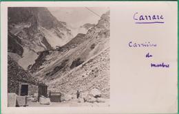 Italie - Carte Photo - Carrare - Carrières De Marbre - 1938 - Carrara