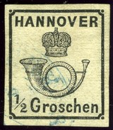 Hannover. Scott #18a. Michel #17x. Used, VF Margins, No Faults. - Hanover