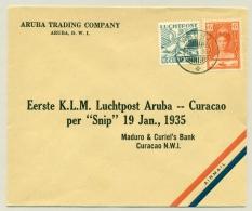 Curacao - 1935 - Eerste KLM-vlucht Van Aruba Naar Willemstad - Per Snip - Curaçao, Nederlandse Antillen, Aruba