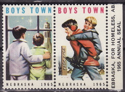 USA 1965 BOYS TOWN NEBRASKA Vignette Cinderella Charity Seals Seal Poster Stamp Label - Sonstige