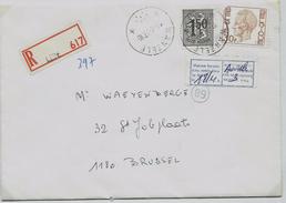 """Doc. De WANZELE  Le 15/04/1977  En Rec. De Lede + étiquette: Bilingue: """"Maison Fermée ... - Postmark Collection"""