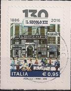 """2016 Italien Mi. 3940 Used    130 Jahre Tageszeitung """"Il Secolo XIX"""" - 2011-...: Usati"""