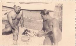 BEACH , CHESS PLAYERS, CROATIA, DALMATIA,, LOT 2 PHOTOS - Ansichtskarten