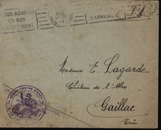 Guerre 39/45 Centre Edentes Gueule Cassée Tu Dois Acheter Un Bon D'armement Dent Dentiste FM - Storia Postale