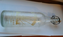Bouteille 1l Limonade Sérigraphiée LE MENHIR (Quintin 22) - Soda