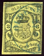 Oldenburg. Scott #8. Michel #8. Used. - Oldenbourg