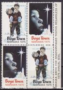 USA 1975  BOYS TOWN NEBRASKA Vignette Cinderella Charity Seals Seal Poster Stamp Label - United States