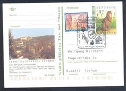 Austria 1999 Postal Stationery Card MATZEN Fauna Squirrel Eichhörnchen Wein Vine Grape - Nager
