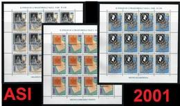 ITALIA 2001 - Antichi Stati Italiani - Lombardo Veneto - Sardegna - Toscana - Minifogli ** - Cat. ? - Lotto 44 K - 6. 1946-.. Repubblica