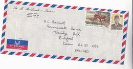 Air Mail INDONESIA COVER Stamps SAMBAR DEER - Indonesia