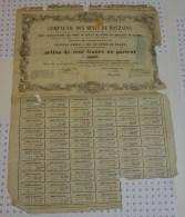 Mines De Mouzaias, (papier Pelure Abimé) 1853 En Algerie - Electricité & Gaz