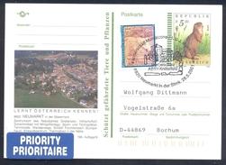 Austria 2001 Postal Stationery Card NEUMARKT Fauna Squirrel Eichhörnchen Musikverein Music Nature Park - Nager