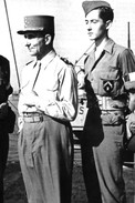 Militaria WW2  - Le Général De Lattre Et Son Fils à La Veille Du Débarquement En Provence - 1939-45