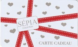 ## Carte  Cadeau  SEPIA  ##  (France)   Gift Card, Giftcart, Carta Regalo, Cadeaukaart - Cartes Cadeaux