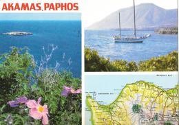 AKAMAS PAPHOS - Carte Géographique - Chypre