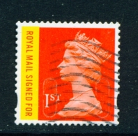 GREAT BRITAIN  -  2009+  Machin  Recorded Delivery  Security Slits  1st  Used As Scan - 1952-.... (Elizabeth II)