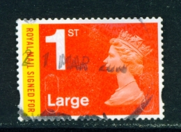 GREAT BRITAIN  -  2009+  Machin  Recorded Delivery  Security Slits  1st Large  Used As Scan - 1952-.... (Elizabeth II)