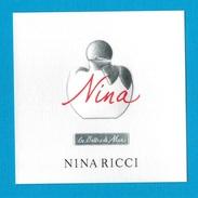 Cartes Parfumées   Carte LES BELLES DE NINA   De NINA RICCI - Perfume Cards