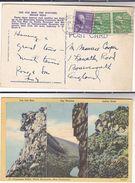 1949 USA Postcard FRANCONIA NOTCH  WHITE MOUNTAINS New Hampshire Mountain  Stamps Cover Pmk Bethleham - White Mountains