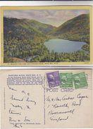 1948 USA Postcard ECHO LAKE FRANCONIA NOTCH  WHITE MOUNTAINS Mountain New Hampshire Stamps Cover Pmk Bethleham - White Mountains