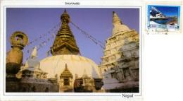NEPAL  Swayambu  Swayambunath Stupa Nice Stamp - Nepal