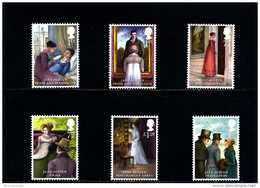 GREAT BRITAIN - 2013  JANE AUSTEN  SET  MINT NH - 1952-.... (Elisabetta II)