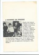 Claude François Divers Aspects De Sa Vie - L' Homme De Presse - Image Et Texte Illustré - Andere