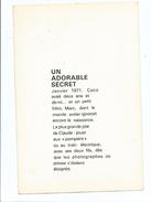 Claude François Divers Aspects De Sa Vie - Son Fils Un Adorable Secret - Image Et Texte Illustré - Andere