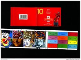 GREAT BRITAIN - 1991  GREETINGS BOOKLET LAUGHING PILLAR BOX  DESIGN NEW RATES MINT NH  SG KX3a - Libretti