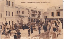 Morocco Rabat Boulevard El' Alou Un Jour De Fete - Rabat