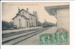 Carte De Parsac  La Gare ( Train ) Passage Du Bordeaux Turin ( Peu Courante )   ( Recto Verso ) - France