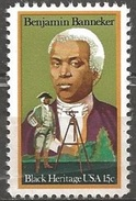 1980 15 Cents Banneker Mint Never Hinged - United States