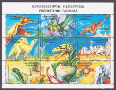 Georgia 1995 Georgien Mi 143-151klb Prehistoric Animals / Prähistorische Tiere **/MNH - Timbres
