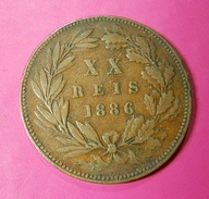 Portugal XX Reis 1886 D. Luiz I - Portugal