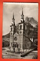 IAU-21  Glarus Stadtkirche Mit Glarnisch. Gelaufen In 1950 - GL Glaris