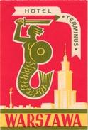 1 Hotel Label Etiquette  Mythologie SIRENE Mermaid Zeemeermin Meerjungfrau  Hotel Terminus Warszawa - Etiquettes D'hotels