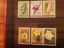 Yugoslavia 1963 Medicinal Plants Mint SG 1074-9 Mi 1034-9 - Nuovi