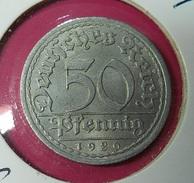 Germany 50 Pfennig 1920 A - [ 3] 1918-1933 : Republique De Weimar