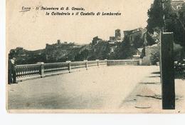 1-ENNA-IL BELVEDERE DI S.ORSOLA-A CATTEDRALE E IL CASTELLO DI LOMBARDIA - Enna