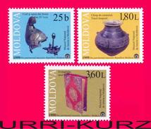 MOLDOVA 1999 History Archaeology National Museum Exhibits 3v Sc338-340 Mi342-344 MNH - Archaeology