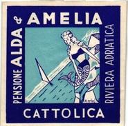 2 Hotel Label Etiquette Mythologie SIRENE Mermaid Zeemeermin Meerjungfrau  Alda &Amelia Riviera Adriatica Miramar Cannes - Etiquettes D'hotels