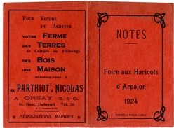 ARPAJON (91) FOIRE Aux HARICOTS D'ARPAJON.1924. 3 PAGES De PUBLICITE.ORSAY (91) PARIS. - Non Classés