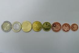Complete Set Euro De Andorra 2014 Kursmunzen, 1-2-5-10-20-50 Cent 1-2 € Bimetal UNC - Andorra