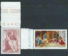Italia , Italy, Italie 1978; Pitture Del Giorgione, Painting. Natale, Christmas, Noël. Serie Completa Di Bordo. - Arte