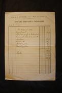 PAP - Note D'honoraires Et Compte De Succession - Macon - Notaires Gautheron Et Longepierre -Boulangerie Cinquin à Paray - 1900 – 1949
