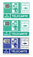 TELECARTES  POLYNESIE FRANCAISE  Tiki   *30 Unités SC5  *60 Unités SC5   *60 Unités SC4  (lot De 3)